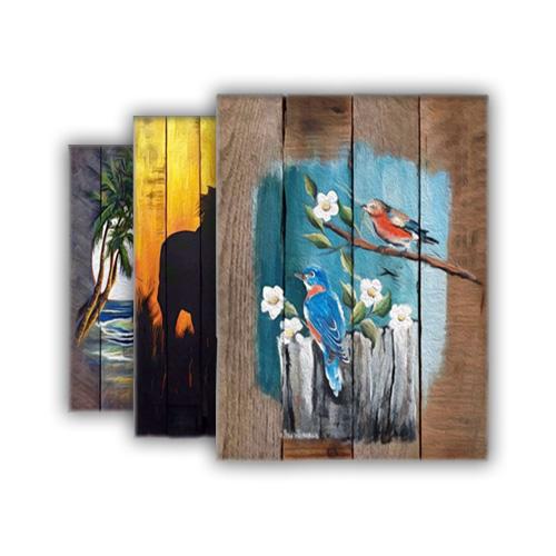 نمونه های چوب نگاری و نقاشی روی چوب